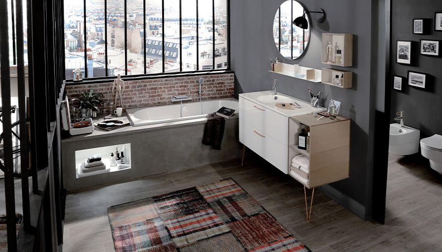 salle de bain industrielle ville